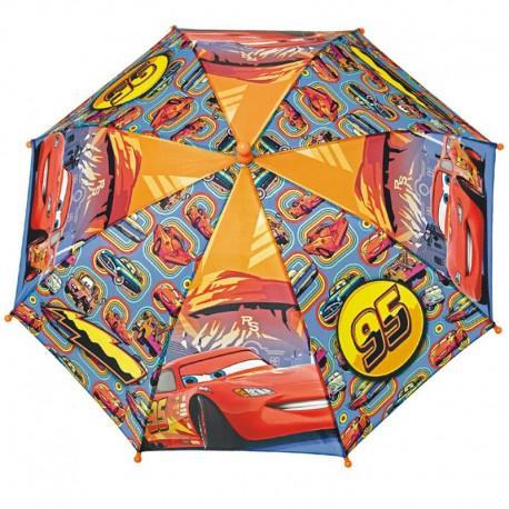 Paraguas apertura seguridad Cars Disney 38cm