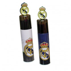 Tubo metal 15 pinturas Real Madrid surtido