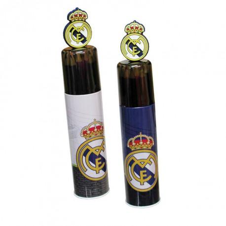 Tubo metal 15 pinturas Real Madrid surtido