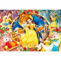 Puzzle Maxi Bella y Bestia Disney 104pzs