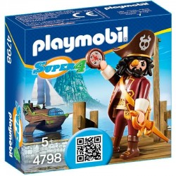Pirata Sharkbeard Playmobil Super 4