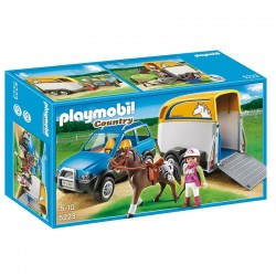 Vehiculo remolque Ponis Playmobil Country