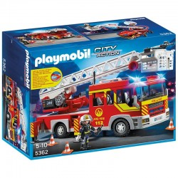 Camion bomberos escalera Playmobil City Action luces sonido