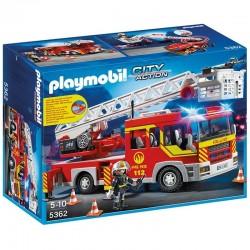 Camion bomberos escalera Playmobil City Action luces sonido