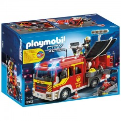 Camion bomberos Playmobil City Action luces sonido