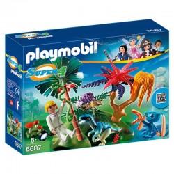 Isla Perdida alien raptor Playmobil Super 4