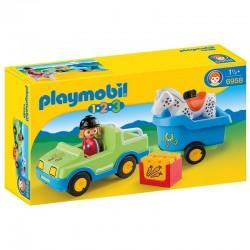 Coche remolque Playmobil 1.2.3