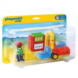 Carretilla elevadora Playmobil 1.2.3