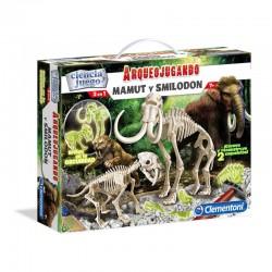 Arqueojugando Smilodon + Mamut fluorescente
