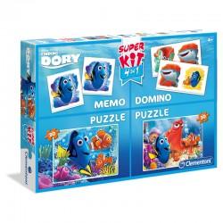 Superkit puzzle Buscando a Dory Disney 2x30pz + Memo + Domino
