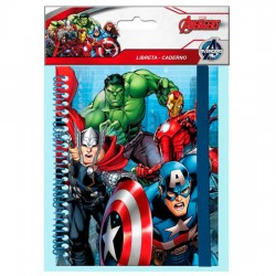 Libreta Vengadores Marvel banda elastica