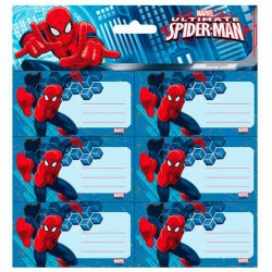 Etiquetas pegatinas Spiderman Marvel Ultimate