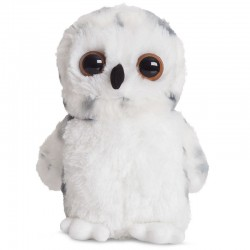 Peluche Buho blanco Mini Flopsies 17 cm