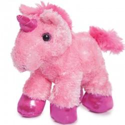 Peluche Unicornio Rosa Mini Flopsies 21cm