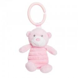 Peluche Oso clip Aurora Baby rosa 15cm