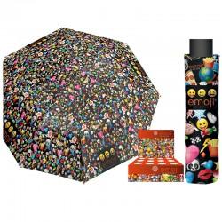 Paraguas plegable antiviento Emoji 50cm