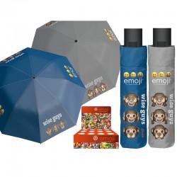 Paraguas automatico plegable antiviento Emoji wise guys 54cm surtido
