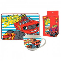 Set taza mantel Blaze and the Monster Machines