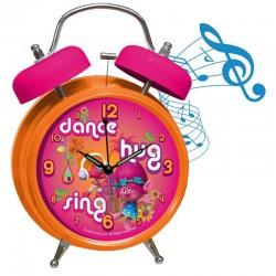 Reloj despertador Trolls True Colors campanas musica