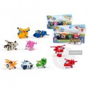 Blister 4 figuras transformables Super Wings a-bots surtido