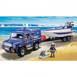Coche Policia lancha Playmobil City Action