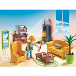 Sala de estar chimenea Playmobil Dollhouse