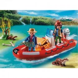 Bote hinchable exploradores Playmobil Wild Life