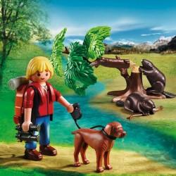 Castores con Mochilero Playmobil Wild Life