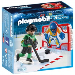 Porteria hockey hielo Playmobil Sports Action