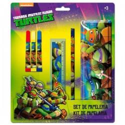 Set papeleria Tortugas Ninja estuche metalico