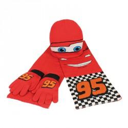 Set bufanda gorro guantes Cars Disney jacquard