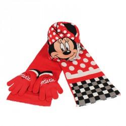 Set bufanda gorro guantes Minnie Disney jacquard Dots