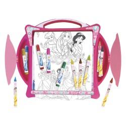 Set colorear pupitre + rollo grande Princesas Disney