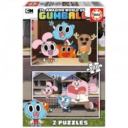 Puzzle Gumball 2x100pz