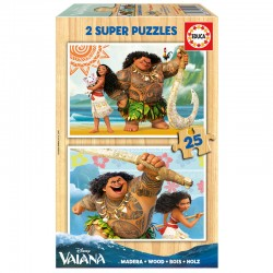 Puzzle Vaiana Disney 2x25pz