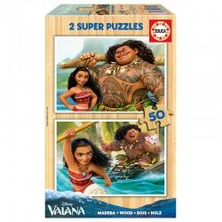 Puzzle Vaiana Disney 2x50pz