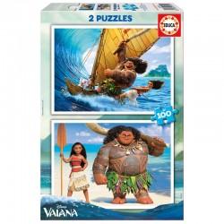 Puzzles Vaiana Disney 2x100pz
