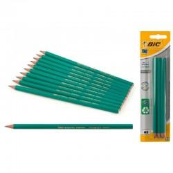 Blister 10 lapices Bic grafito HB