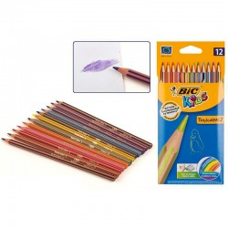 Estuche 12 lapices colores Bic Tropicolors