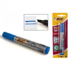 Blister marcador permanente Bic azul 2300