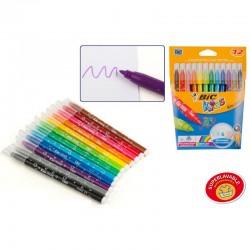Estuche 12 rotuladores colores Bic Kids