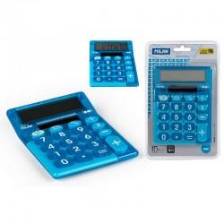 Blister calculadora Milan look azul
