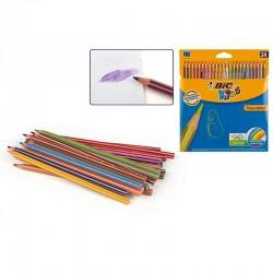 Estuche 24 lapices colores Bic tropicolors