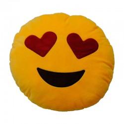 Cojin Emoticonworld ojos corazon 32cm