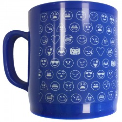 Taza Emoticonworld mosaico azul