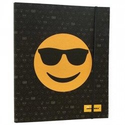 Carpeta A4 anillas Emoticonworld gafas sol banda elastica