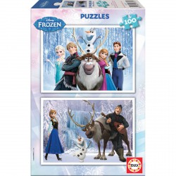 Puzzles Frozen Disney 2x100