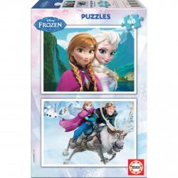 Puzzles Frozen Disney 2x48