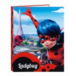 Carpeta Prodigiosa Ladybug Torre Eiffel A4 anillas