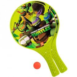 Palas + pelota Tortugas Ninja